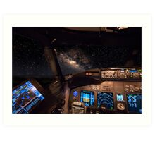 Milky way as seen from the cockpit Art Print