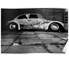 Instead of Scrapyard Heaven ~ 'Time' ~ black and grey Poster