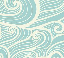 Wave Swirl Pattern  by SKEWJACK