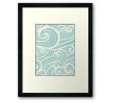 Wave Swirl Pattern  Framed Print