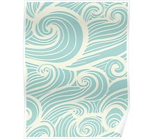 Wave Swirl Pattern  Poster