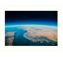 Earth view Art Print