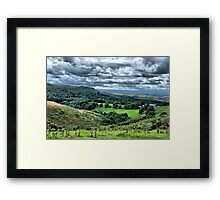 Down from the moor Framed Print