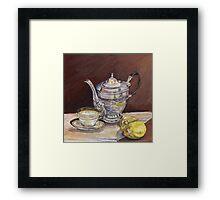 Deb's Teapot with Lemons Framed Print