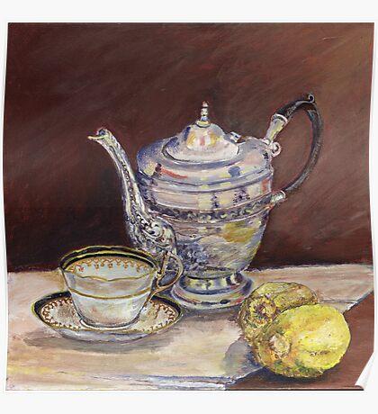 Deb's Teapot with Lemons Poster