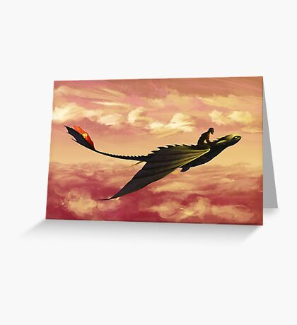 Flying - How to Train Your Dragon Greeting Card