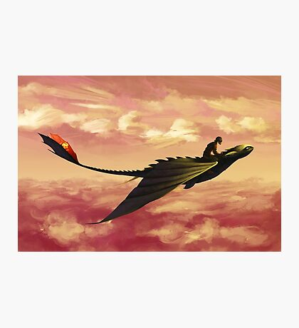 Flying - How to Train Your Dragon Photographic Print