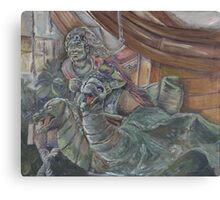 Figurehead on pirate ship from the West Edmonton Mall  Canvas Print