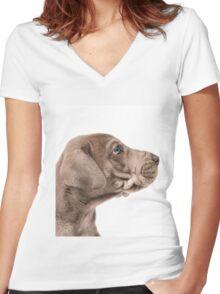 Faithful Friend Women's Fitted V-Neck T-Shirt