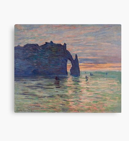Claude Monet - Etretat, Sunset, 1883 Canvas Print
