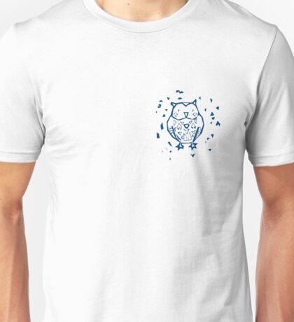 Owl in Blue Unisex T-Shirt