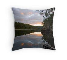 Swallow rock reflections Throw Pillow