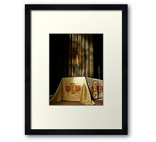 The Minster Alter Candle Framed Print
