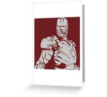IRON MAN 1.3 Greeting Card