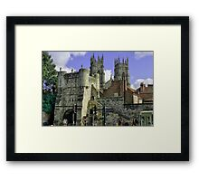 Minster with Bar Framed Print
