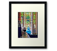 Blue Apothecary Bottle Framed Print