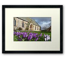 Church garden Framed Print