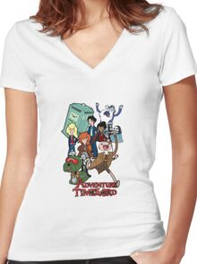 Adventure Time-Lord Number Ten Women's Fitted V-Neck T-Shirt