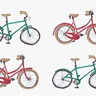 Christmas bicycles by Sandy Mitchell