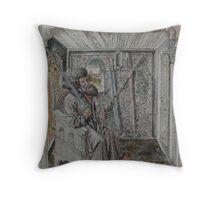 Portrait of Johannes Liechtenauer Throw Pillow
