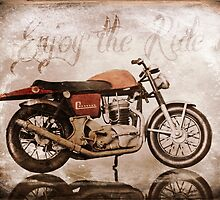 'Enjoy the Ride' Classic Motorcycle by Furtographic