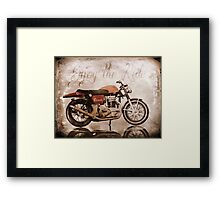 'Enjoy the Ride' Classic Motorcycle Framed Print