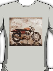 'Enjoy the Ride' Classic Motorcycle T-Shirt