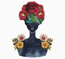 Crown of Flowers Silhouette (0003) T-Shirt