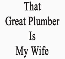That Great Plumber Is My Wife  by supernova23