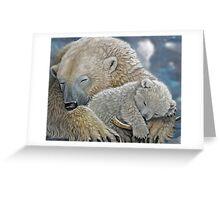 """ Warm Love "" Painting Greeting Card"