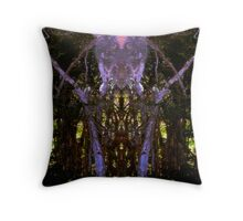 Forest Temple Throw Pillow
