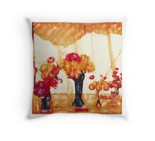 Tetbury flower show Throw Pillow