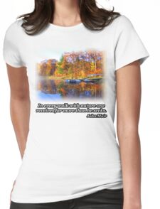 Fall Boating Sunrise Womens Fitted T-Shirt