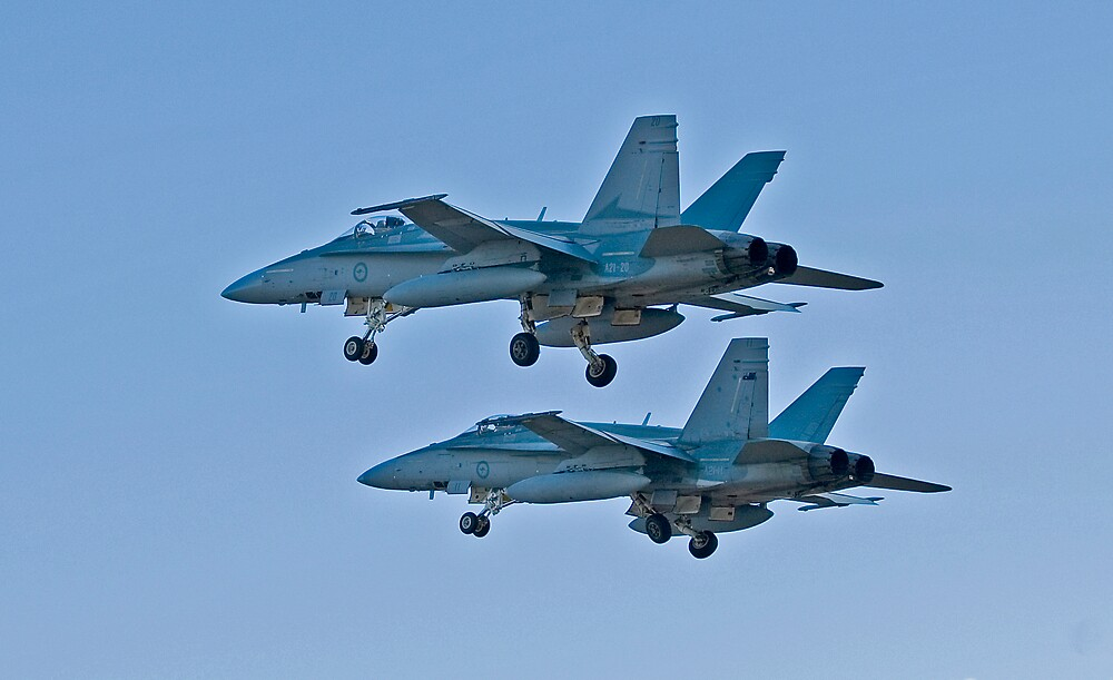 Aussie F18 Hornets by Nathan T