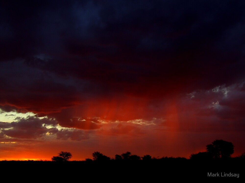 Crimson rain by Mark Lindsay