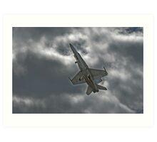 Aussie F18 Hornet at speed. Art Print