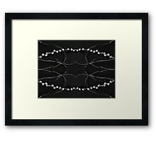pussy willow reflection Framed Print