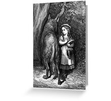 LITTLE RED RIDING HOOD....circa 1857! Greeting Card