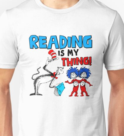 Reading is My Thing Funny Reading Unisex T-Shirt
