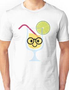 Fruit Juice Emoji Nerd Noob Glasses Unisex T-Shirt