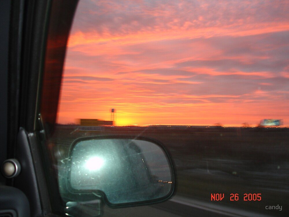 Through the window Ohio sun rise by candy