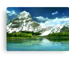 Cold mountains matte painting Canvas Print