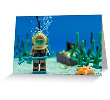 Lego Deep Sea Diver Greeting Card