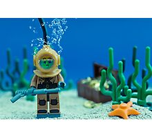 Lego Deep Sea Diver Photographic Print