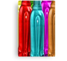 Coloured Bottles (zoomed in) Canvas Print