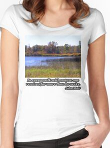Fall Colors Over The Pond Women's Fitted Scoop T-Shirt