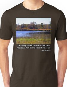 Fall Colors Over The Pond Unisex T-Shirt