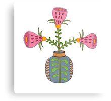 flower pot illustration 1 Metal Print