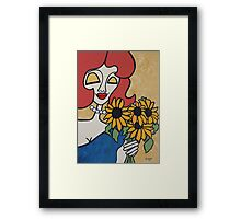 Wildago's Sunflower Pearl Framed Print