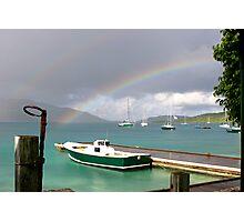 Rainbow's Boats Photographic Print